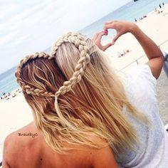 awesome, beach, beautiful, beauty, best friends, bestfriends, besties, bf, bff, blond, braid, brands, friends, gorgeous, hair, heart, summer, tatoo