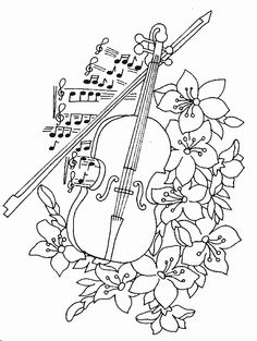 Musical Instruments Albums Picasa Coloring Pages Music