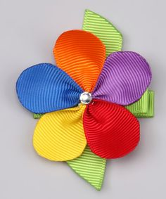 Rainbow Flower Clip | Daily deals for moms, babies and kids