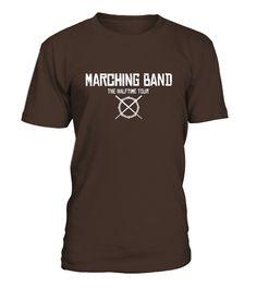 Marching Band Rocks Tshirt Fake Rock Band Music Shirt