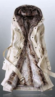 Fur White Hooded Jacket | Fashionista Tribe
