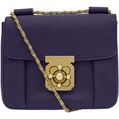 Chloe Mini Blue Elsie Leather Bag (£615) ❤ liked on Polyvore featuring bags, handbags, shoulder bags, purses, cross body shoulder bags, mini shoulder bag, crossbody purse and leather shoulder bag