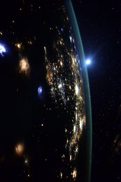 "Western United States at Night | International Space Station Scott: ""...to those in the western USA. Looks like there's a lot going on down there."" Credit: NASA/JSC, U.S. Astronaut Scott Kelly Date: August 10, 2015"