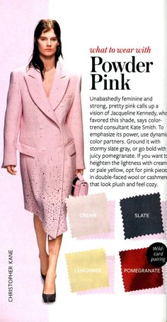 What to wear with Powder Pink - InStyle