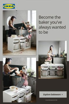 Always dreamed of becoming a baker? Now's your chance to fire up the oven and bake something delicious – and the kids can have fun helping, too! Find everything you need to get started, including pans, spatulas, cookie sheets, measuring cups and more.