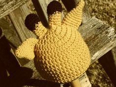 crochet giraffe hat, pattern on Ravelry
