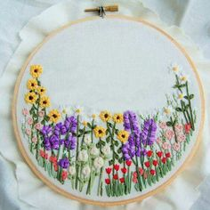 Hand Embroidery Design Custom Flower Embroidery Hoop Wildflower Art Hand Embroidery Hoop Art Flower Wall Hanging Floral Print Floral Art Personalize Hoop USD) by KnottyDickens - Wooden Embroidery Hoops, Hand Embroidery Stitches, Embroidery Hoop Art, Ribbon Embroidery, Floral Embroidery, Kurti Embroidery, Modern Embroidery, Hand Stitching, Jacobean Embroidery