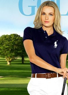Ralph Lauren has launched its Golf Apparel Spring Collection for Perfect for our lady golfers, the collection showcases comfy and sty. Golf Fashion, Fashion 2017, Valentina Zelyaeva, Polo T Shirts, Golf Outfit, Ladies Golf, Our Lady, Spring Collection, Polo Ralph Lauren