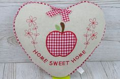 Heart Scatter Cushion Home Sweet Home Gift For Home Mothers Day Apples  FD1422A