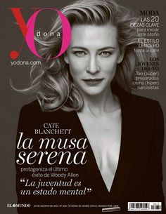Cate Blanchett in Giorgio #Armani on the cover of YO DONA