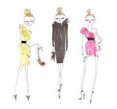 Lanvin for H | The signature dresses and coats | #fashion #illustration by GATTOBRAVO MIAO