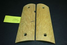 CLEARANCE YELLOW HEART FULL SIZE 1911 GRIPS COLT/Clones wood 8rd GOV mag 7-8rd #Colt