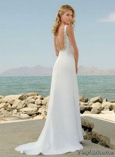 Cool Wedding dress for a beach wedding 2018-2019 Check more at http://myclothestrend.com/dresses-review/wedding-dress-for-a-beach-wedding-2018-2019/