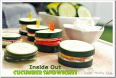 Inside Out Cucumber Sandwiches | Recipes
