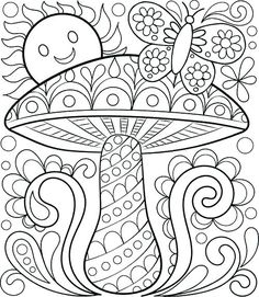 Free Printable Coloring Book Pages For Adults Free Adult Coloring Pages: Detailed Printable Coloring Pages For Coloring Pages For Grown Ups, Spring Coloring Pages, Printable Adult Coloring Pages, Cool Coloring Pages, Mandala Coloring Pages, Coloring Pages To Print, Coloring Books, Coloring Worksheets, Coloring Sheets