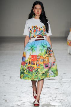 Stella Jean - Spring 2015 Ready-to-Wear. I f-ing love Stella Jean! Look Fashion, Runway Fashion, High Fashion, Fashion Show, Fashion Outfits, Fashion Design, Milan Fashion, Modest Fashion, Spring Fashion