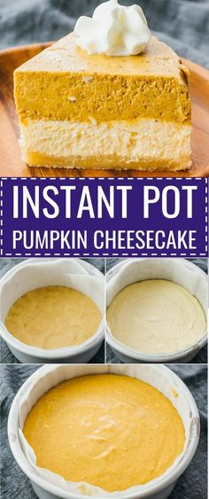 This Instant Pot pumpkin cheesecake is the best keto cake ever. It has a simple almond crust and is layered with separate cheesecake and pumpkin filling, made from scratch and homemade. Great for…More 15 Awesome Low Carb Casserole Recipes Desserts Keto, Small Desserts, Dessert Recipes, German Desserts, Easy Desserts, Easy Baking Recipes, Low Carb Recipes, Healthy Recipes, Dairy Recipes