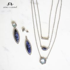 The mix and match possibilities with the Meridian Convertible Pendant Necklace and Meridian Convertible Post Earrings are almost endless! I've done the math and you can wear the necklace 7 different ways!! Plus I always get compliments when I wear it. http://www.chloeandisabel.com/boutique/elyse/1f7353
