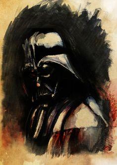 Vader in watercolor