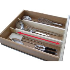 Charmant Expandable Kitchen Drawer Divider   By Axis International   440 (Set Of  Image