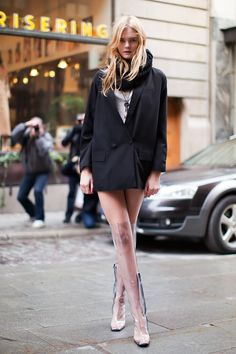 transparent rain boots with chic outfit