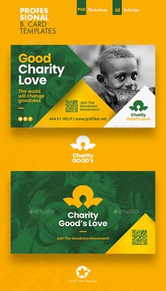 Charity Business Card Templates by grafilker | GraphicRiver