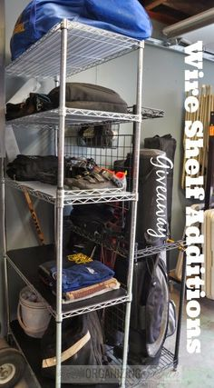 Becky got her husband's stuff organized in the garage with our 5 tier rack http://wirerackparts.com/product.php?id_product=55