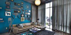 streichen in blau-moderne wandfarbe blau - fresHouse