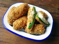 Jalapeño Poppers with a Chipotle and Lime Tortilla Coating - Another great recipe from Allford (Hef's kitchen) Great Recipes, Vegan Recipes, Recipe Ideas, Jalapeno Poppers, Chipotle, Avocado Toast, Lime, Vegetarian, 3 Years