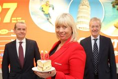8 April 2014 - Jet2.com celebrates 10 years at Belfast International Airport! http://www.belfastairport.com/en/news/1/328/jet2com-celebrates-10-years-at-belfast-international-airport.html #jet2 #celebration #10years #cake #candle #business #belfast #airport #belfastinternational #belfastinternationalairport #bia #flying #plane #holiday #trip #vacation