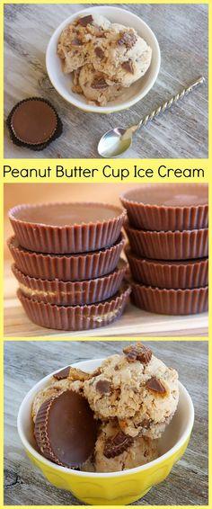 Reeses Peanut Butter Cup Ice Cream #recipe