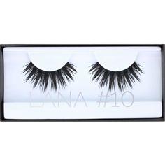 HUDA BEAUTY Huda Beauty Lana Classic Lashes #10 ($18) ❤ liked on Polyvore featuring beauty products, makeup, eye makeup and false eyelashes