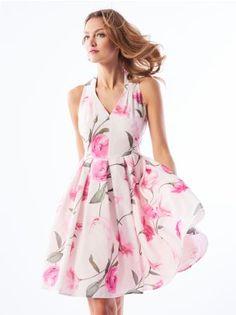 MOHITO - Kwiatowa sukienka z plisowanym dołem Celebration