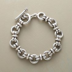 "SUPER LINK BRACELET -- Bold and beautiful, our weighty sterling silver bracelet is a stylish statement piece for both women and men. Toggle closure. Handcrafted in Mexico. Sizes S (7-1/2"") and L (8-1/2"")."