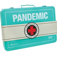 Anniversary Edition comes in a custom metal box inspired by the look of early century first aid kits!Promo pre-painted figure kits are very limited in number and will be included only while supplies last. Man Games, Games Box, Board Game Box, Board Games, Custom Screens, Tenth Anniversary, Cooperative Games, Petri Dish, Custom Metal