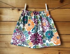 Floral Skirt by Chicklettes on Etsy