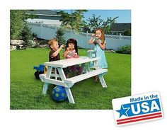 Children Folding Picnic Table Portable Outdoor Craft Snack Lunch Beach BBQ Party #SummerFun