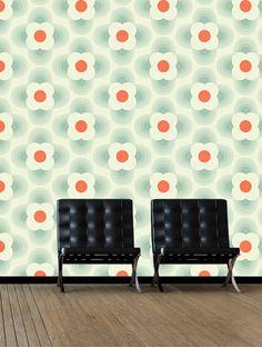 Orla Kiely Striped Petal Wallpaper - 110404