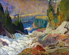 Exhibition: 'Painting Canada: Tom Thomson and the Group of Seven' at the Dulwich Picture Gallery, London – Art Blart Tom Thomson, Emily Carr, Canada Landscape, Landscape Art, Landscape Paintings, Oil Paintings, Group Of Seven Artists, Group Of Seven Paintings, Canadian Painters