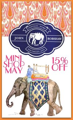 MINI SHOP EVENT the ENTIRE month of MAY! Enjoy 15%OFF on all #JOHNROBSHAW! @Cameron Blazer Chic