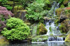 Portland, OR | Japanese Gardens  June 2011 Diy Waterfall, Japanese Gardens, Portland, Places To Travel, Places Ive Been, June, Outdoor, Outdoors, Destinations