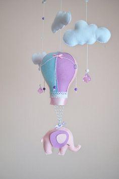 Baby mobile Hot air balloon mobile Elephant mobile
