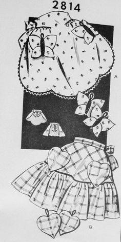 1940s Sweet Aprons and Potholders Pattern Butterfly and Heart Shape Aprons and Potholders One Size Mailorder Vintage Sewing Pattern FACTORY FOLDED