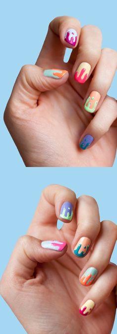 Color Drip Nails