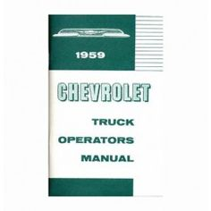 1959 Chevy Truck Owners Manual