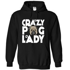 crazy pug lazy T-Shirts, Hoodies. VIEW DETAIL ==► https://www.sunfrog.com/LifeStyle/crazy-pug-lazy-Black-36273673-Hoodie.html?id=41382