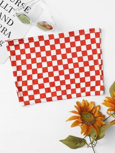Shop Gingham Crop Tube Top at ROMWE, discover more fashion styles online. Festival Looks, Red Fabric, Cool Names, Off Shoulder Tops, Cute Tops, Romwe, Top Sales, Gingham, Cute Outfits