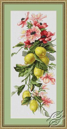 Flowers and Lemon - Cross Stitch Kits by Luca-S - B210