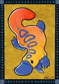 Vivid Platypus by Ursula Vernon Baby Platypus, Duck Billed Platypus, Cute Wallpaper Backgrounds, Cute Wallpapers, Cartoon Drawings, Art Drawings, Indigenous Art, Ursula, Vernon