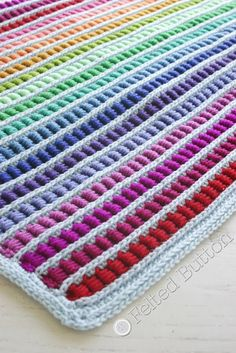 Felted Button - Colorful Crochet Patterns: Math Lovers: Introducing the Abacus Blanket